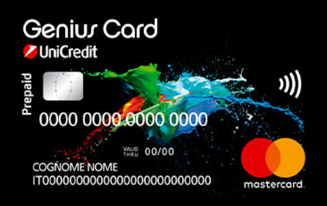 Genius Card Unicredit prepagata con conto