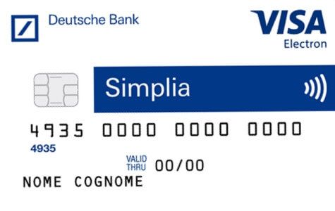Carta Simplia Deutsche Bank Visa